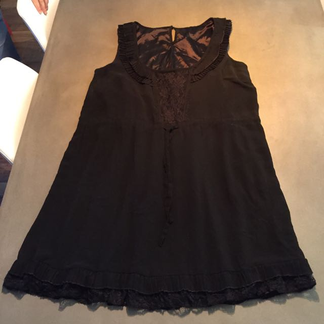 City Chic Vintage Black Dress. Small
