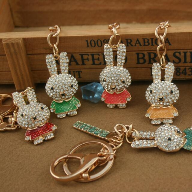 Crystal rabbit Key Chain Charm Pendant Keychain