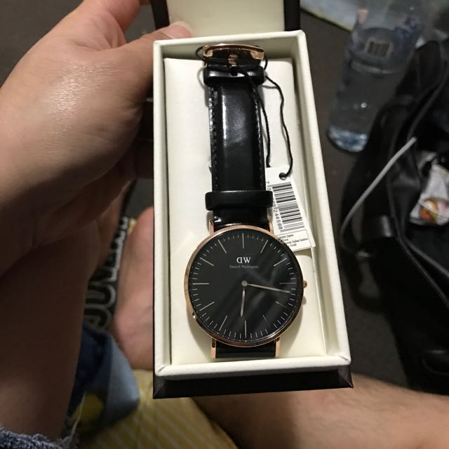 Daniel Wellington Black 40mm Rose Gold