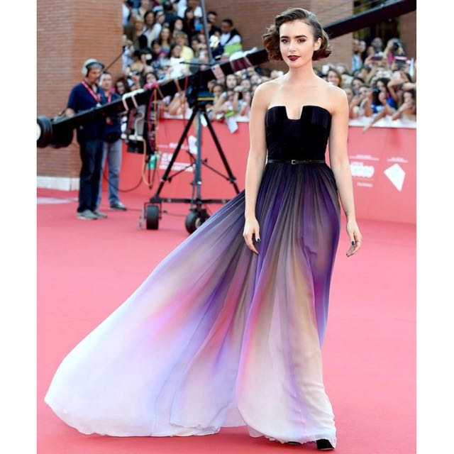 Elie Saab Inspired New Gradient Ombre Prom Dress Evening Gown ...