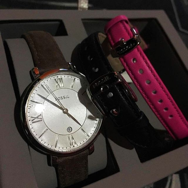 Fossil Watch( 3 Straps)