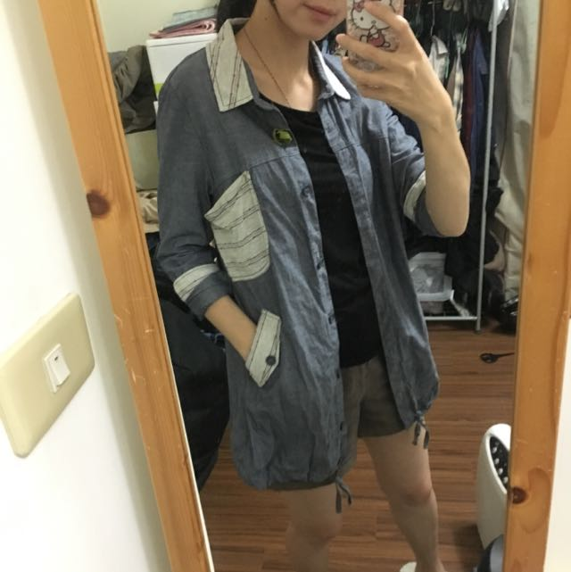 🌟專櫃gozo🌟長版隨性襯衫外套