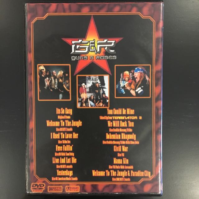 GUNS N ROSES THE RARE STUFF!!? BOOTLEG DVD METALLICA QUEEN
