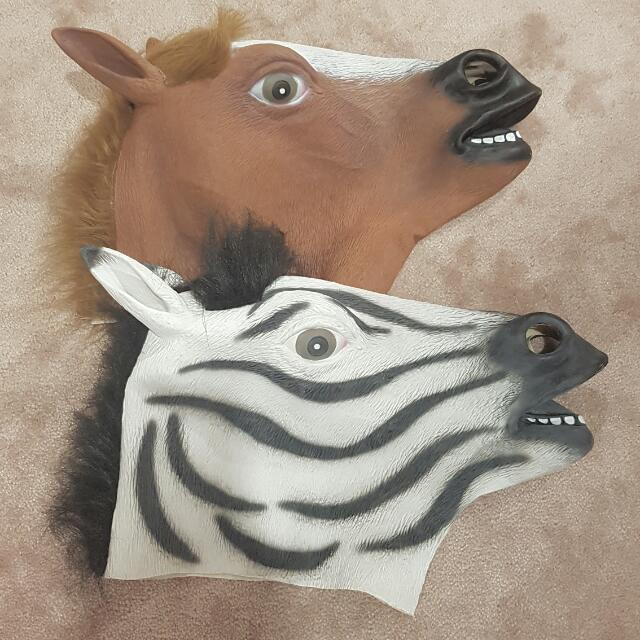 Horse Mask And Zebra Mask