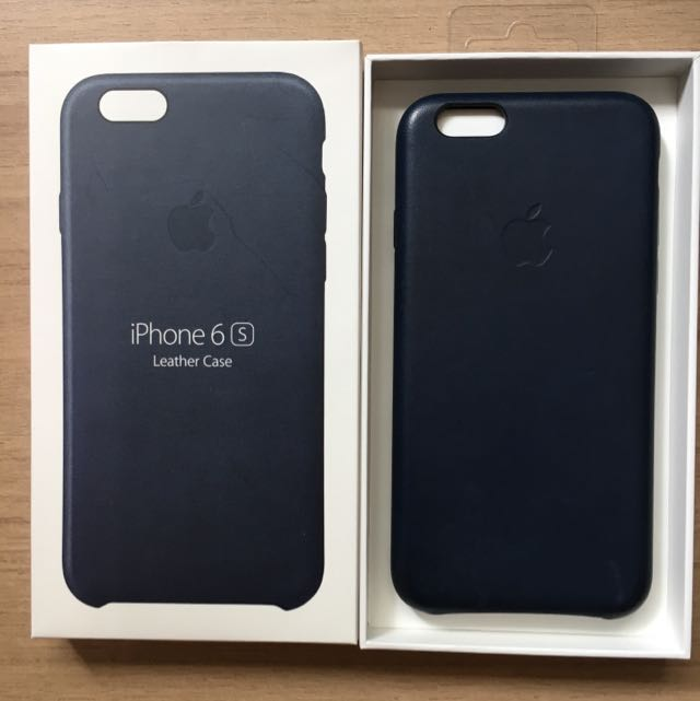 competitive price cb924 5487f IPhone 6s Apple Leather Case (Midnight Blue)