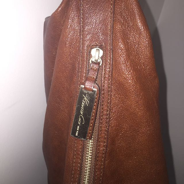 Kenneth Cole Brown Leather Bag