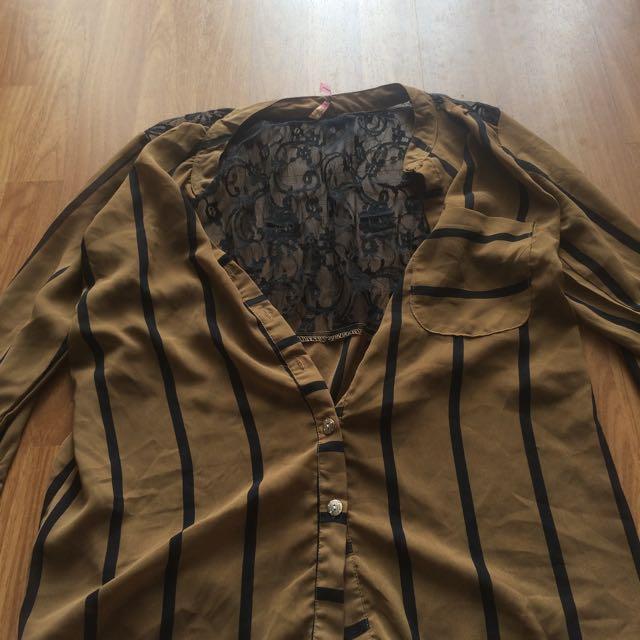 Laces Shirt Kemeja Coklat