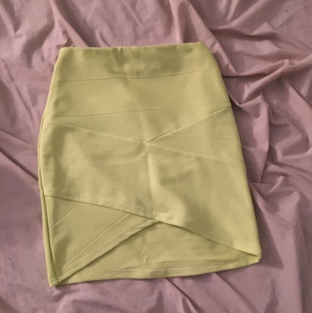 Lime Bandage Skirt