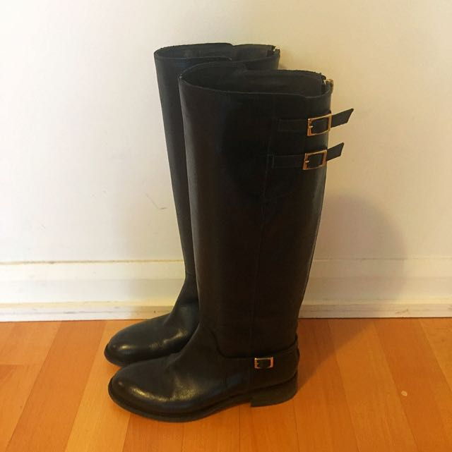 Never Worn Genuine Leather Black Boots