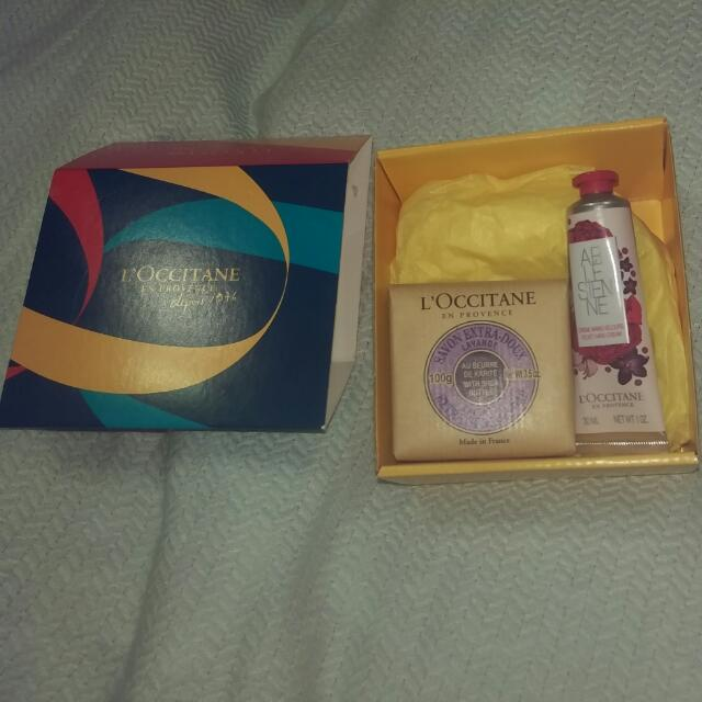 New Collection L'Occitane Arlesiene Hand Creme 30ml And Extra Genial Soap Lavender