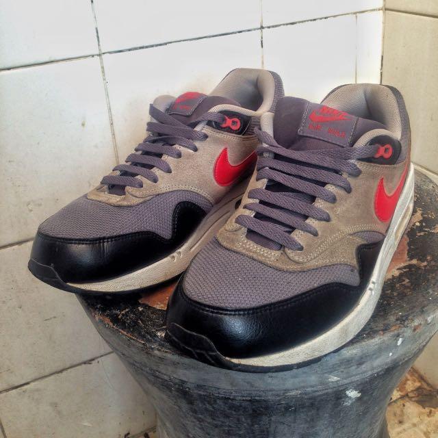 best authentic ec1c7 d5832 Nike Air Max 1 Essential Dark Grey Chilling Red Original Not ...