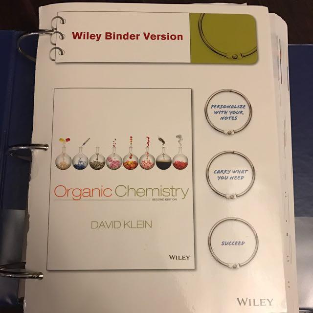 Organic Chemistry Wiley Binder Version - David Klein