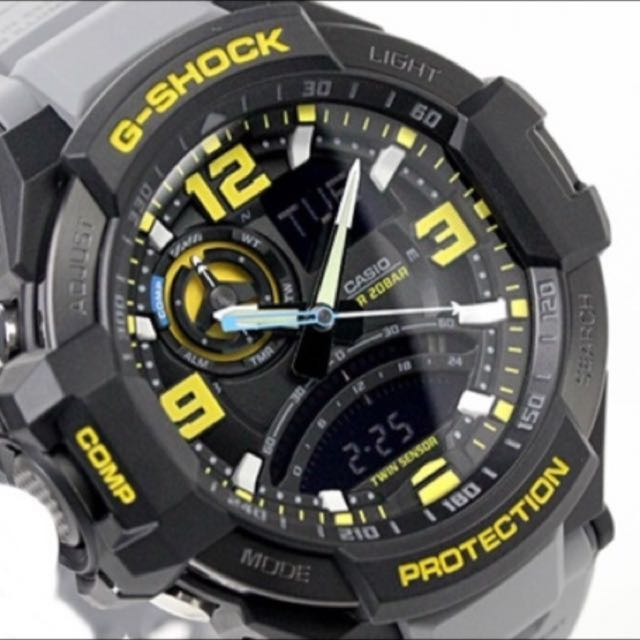 b8687659ab8 Casio G-Shock G-Aviation Twin Sensor GA-1000-8A GA-1000 GA1000 Men s ...