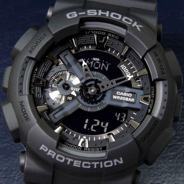 89b14dcee741e Casio G-Shock Military Stealth Black GA-110-1B GA-110 GA110 Men s ...