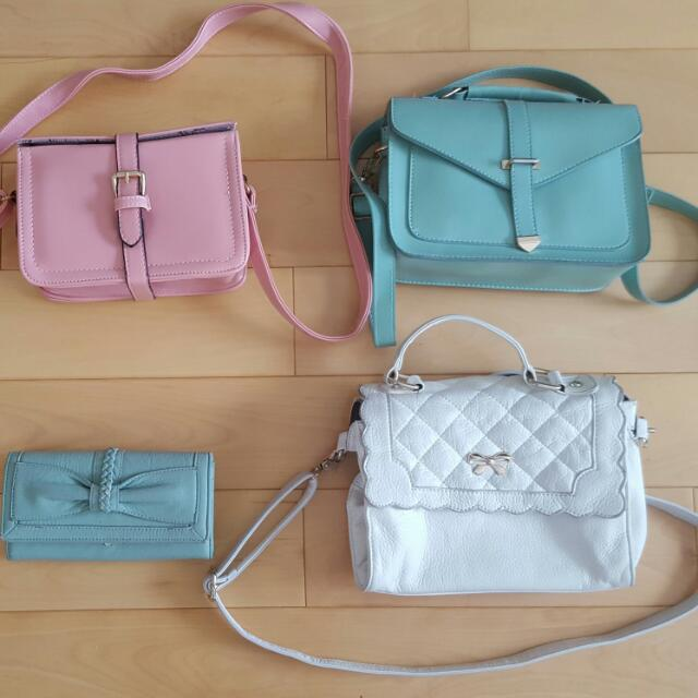 Over Shoulder Pastel Purse Bags
