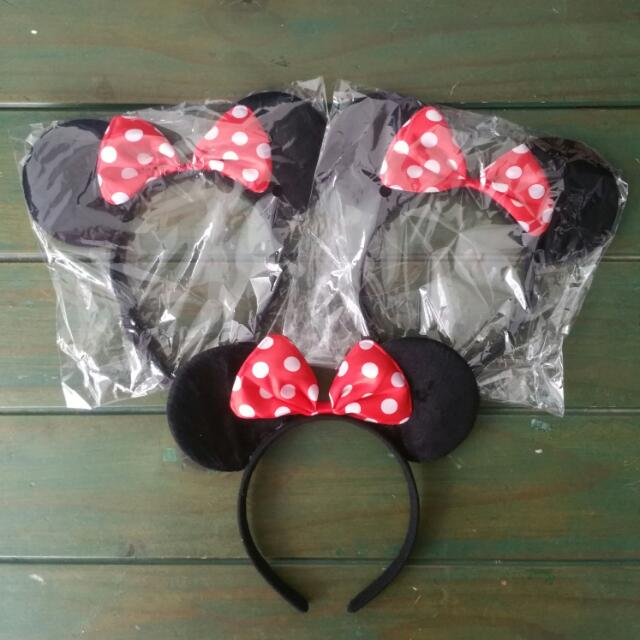 Party Gift  Minnie   Mickey Mouse Hair Band Head Band 239babdea68