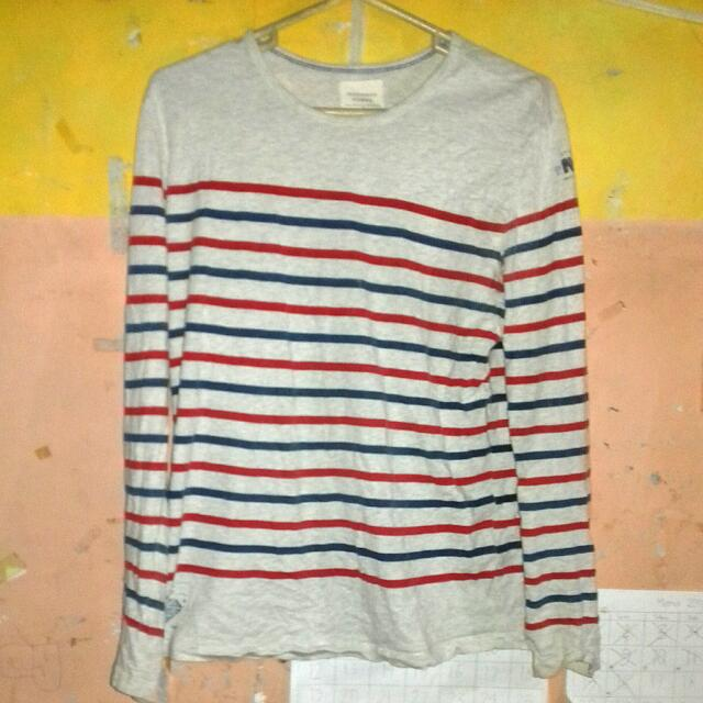 Preloved Long Sleeves Striped Shirt