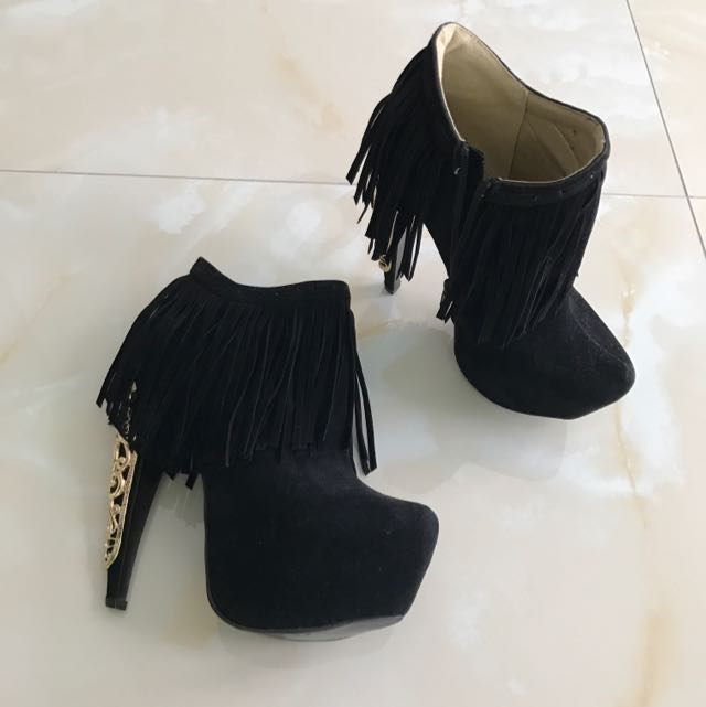 Privileged Black Suede Boots