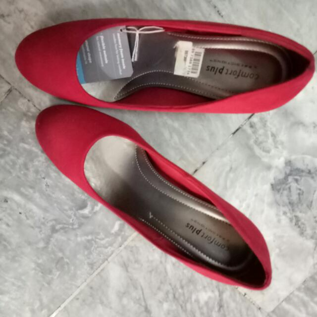 Red Comfort Plus Pumps From Payless