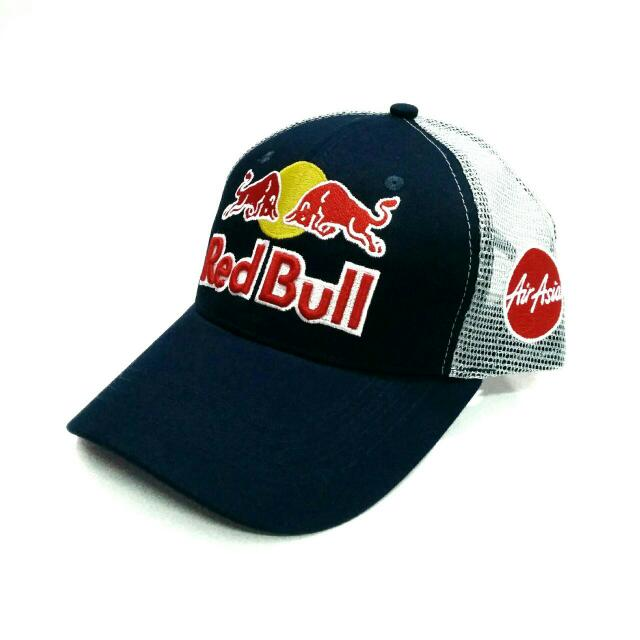 (RS) Red Bull x Air Asia Trucker Cap 884f8e4692e