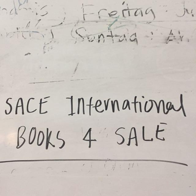SACE International Books For Sale!