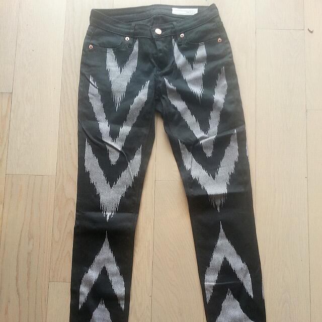 SASS AND BIDE embroidered Skinny Jeans Sz24