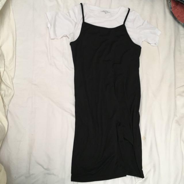 Shirt X Slip Dress