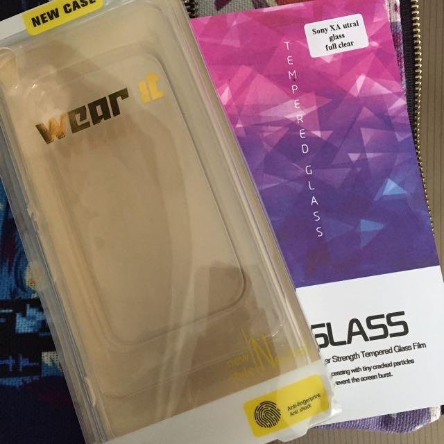 Sony Xperia XA Ultra Clear Case + Tempered Glass
