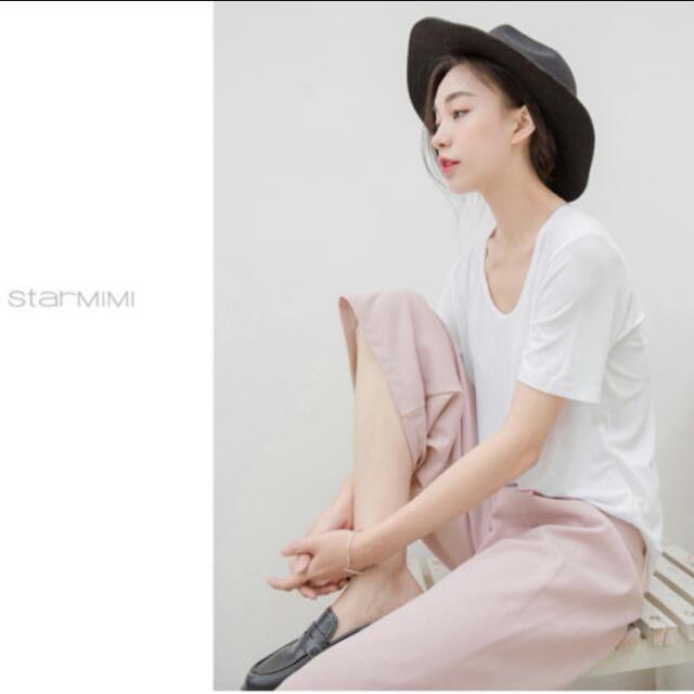Starmimi嫩粉寬褲