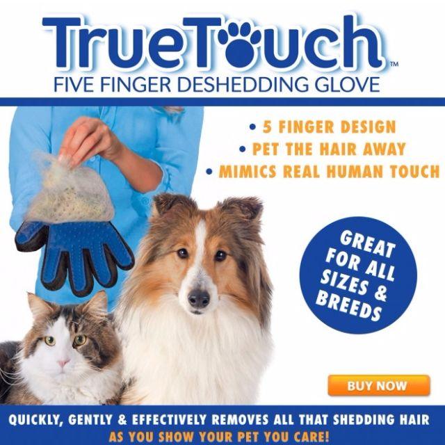 【現貨】True Touch 寵物 貓 狗 潔毛 按摩 2用式 除毛 手套 【狗狗研究所】