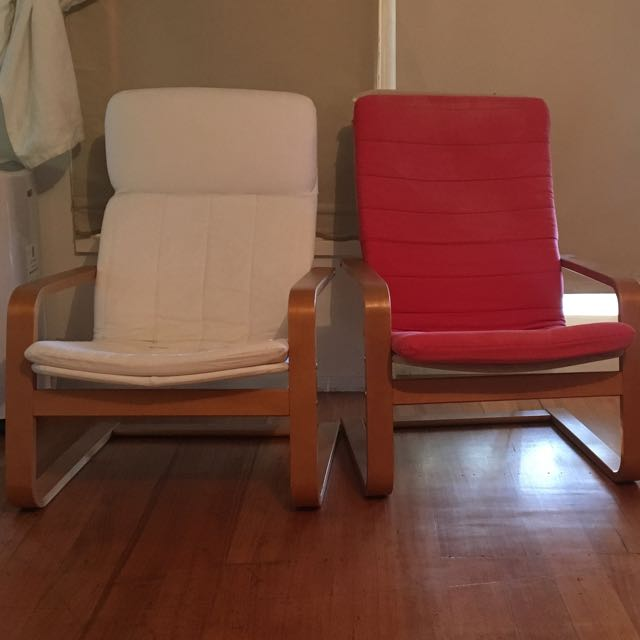 Two Ikea Bouncy Armchairs