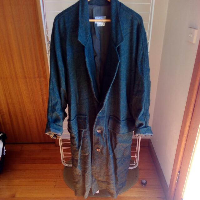 Vintage Dark Green Wool Coat
