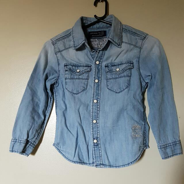 Zara Denim Shirt Boys