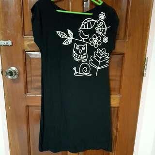 Black Owl Dress