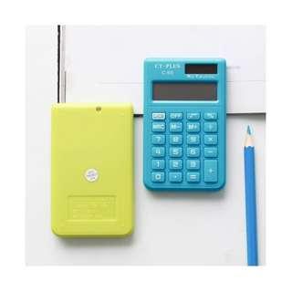 [全新。黃綠 ] 計算機 迷你 太陽能版 計算器 便攜