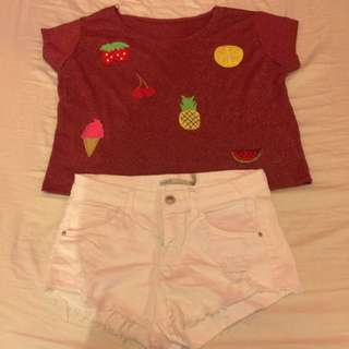 Crop Top (red-gold)