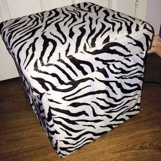 Zebra Seat, Footrest, Storage Bin