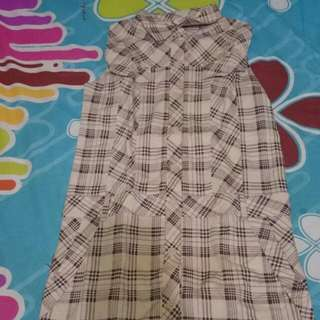 Sleevless Flanel Dress