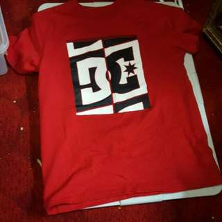 Red DC shirt size Large