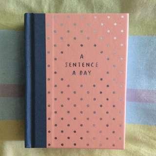 Kikki.K Sentence A Day Book
