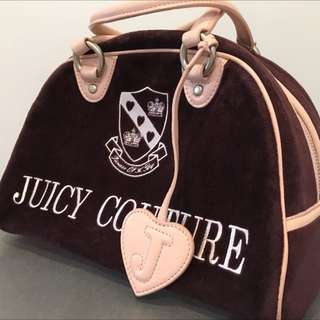 Juicy Couture Velour Bowler Handbag