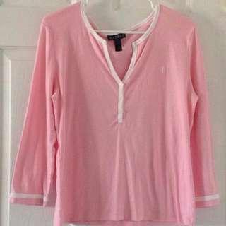 baby pink ralph lauren long sleeves