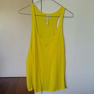 Stunning Yellow Forever New Singlet Size 8, Loose And Flowy