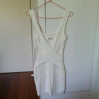 Pretty White Bandage Dress Size Small