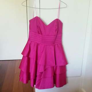 Stunning Pink Strapless Dress Size 10 / S. Worn Once