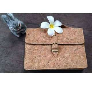 EcoQuote Satchel Style Sling Bag Handmade Cork Material
