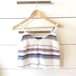 Glassons Striped Cropped Top