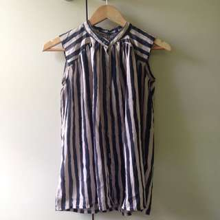 Black And Brown Stripes Top