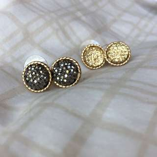ALDO Sparkly Round earrings