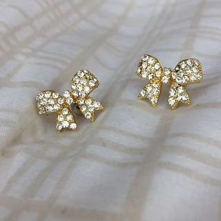 CZ Bow earrings
